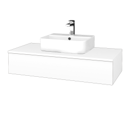 Dreja - Kúpeľňová skrinka MODULE SZZ 100 - N01 Bílá lesk / M01 Bílá mat (298661)