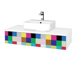 Dreja - Kúpeľňová skrinka MODULE SZZ 100 - N01 Bílá lesk / IND Individual (298685)