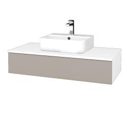 Dreja - Kúpeľňová skrinka MODULE SZZ 100 - N01 Bílá lesk / N07 Stone (298739)