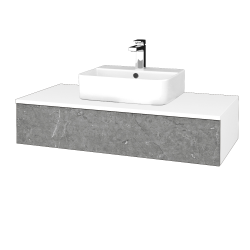 Dreja - Kúpeľňová skrinka MODULE SZZ 100 - N01 Bílá lesk / D20 Galaxy (298791)