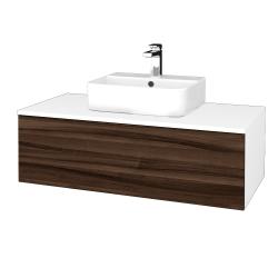 Dreja - Kúpeľňová skrinka MODULE SZZ1 100 - N01 Bílá lesk / D06 Ořech (299064)