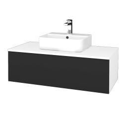 Dreja - Kúpeľňová skrinka MODULE SZZ1 100 - N01 Bílá lesk / N03 Graphite (299187)