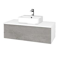Dreja - Kúpeľňová skrinka MODULE SZZ1 100 - N01 Bílá lesk / D01 Beton (299231)