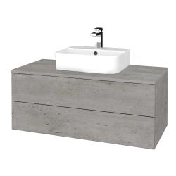 Dreja - Kúpeľňová skrinka MODULE SZZ2 100 - D01 Beton / D01 Beton (299286)