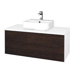 Dreja - Kúpeľňová skrinka MODULE SZZ2 100 - N01 Bílá lesk / D08 Wenge (299545)