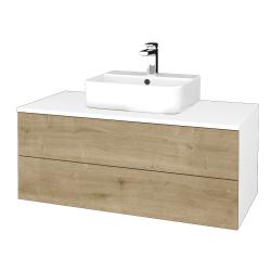 Dreja - Kúpeľňová skrinka MODULE SZZ2 100 - N01 Bílá lesk / D09 Arlington (299552)