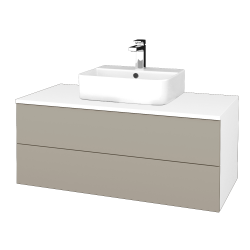Dreja - Kúpeľňová skrinka MODULE SZZ2 100 - N01 Bílá lesk / M05 Béžová mat (299613)