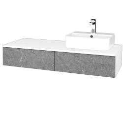 Dreja - Kúpeľňová skrinka MODULE SZZ2 120 - N01 Bílá lesk / D20 Galaxy / Levé (300203)