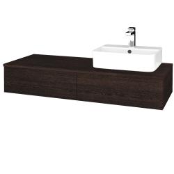Dreja - Kúpeľňová skrinka MODULE SZZ2 120 - D08 Wenge / D08 Wenge / Pravé (300289P)