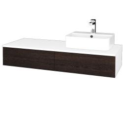 Dreja - Kúpeľňová skrinka MODULE SZZ2 120 - N01 Bílá lesk / D08 Wenge / Pravé (300487P)