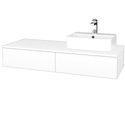 Dreja - Kúpeľňová skrinka MODULE SZZ2 120 - N01 Bílá lesk / M01 Bílá mat / Pravé (300548P)
