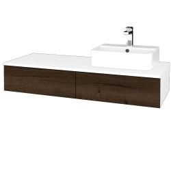 Dreja - Kúpeľňová skrinka MODULE SZZ2 120 - N01 Bílá lesk / D21 Tobacco / Pravé (300685P)