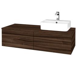 Dreja - Kúpeľňová skrinka MODULE SZZ12 120 - D06 Ořech / D06 Ořech / Levé (300746)