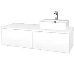 Dreja - Kúpeľňová skrinka MODULE SZZ12 120 - N01 Bílá lesk / M01 Bílá mat / Levé (301019)