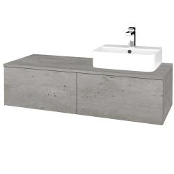 Dreja - Kúpeľňová skrinka MODULE SZZ12 120 - D01 Beton / D01 Beton / Pravé (301163P)