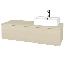 Dreja - Kúpeľňová skrinka MODULE SZZ12 120 - D02 Bříza / D02 Bříza / Pravé (301170P)