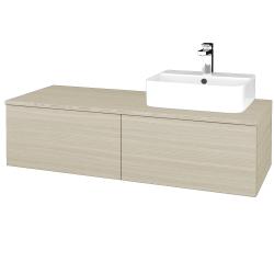 Dreja - Kúpeľňová skrinka MODULE SZZ12 120 - D04 Dub / D04 Dub / Pravé (301194P)