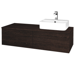 Dreja - Kúpeľňová skrinka MODULE SZZ12 120 - D08 Wenge / D08 Wenge / Pravé (301224P)