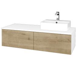 Dreja - Kúpeľňová skrinka MODULE SZZ12 120 - N01 Bílá lesk / D09 Arlington / Pravé (301439P)