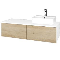 Dreja - Kúpeľňová skrinka MODULE SZZ12 120 - N01 Bílá lesk / D15 Nebraska / Pravé (301453P)