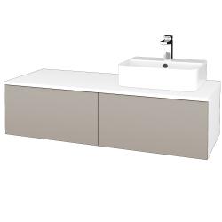 Dreja - Kúpeľňová skrinka MODULE SZZ12 120 - N01 Bílá lesk / N07 Stone / Pravé (301552P)