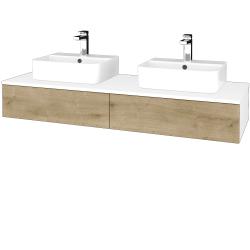 Dreja - Kúpeľňová skrinka MODULE SZZ2 140 - N01 Bílá lesk / D09 Arlington (302849)