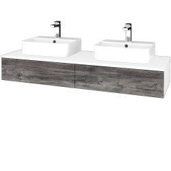 Dreja - Kúpeľňová skrinka MODULE SZZ2 140 - N01 Bílá lesk / D10 Borovice Jackson (302856)