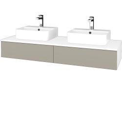 Dreja - Kúpeľňová skrinka MODULE SZZ2 140 - N01 Bílá lesk / M05 Béžová mat (302900)