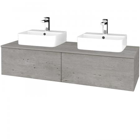 Dreja - Kúpeľňová skrinka MODULE SZZ12 140 - D01 Beton / D01 Beton (303044)