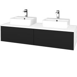 Dreja - Kúpeľňová skrinka MODULE SZZ12 140 - N01 Bílá lesk / N08 Cosmo (303440)