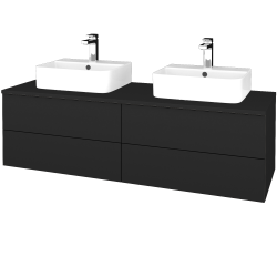 Dreja - Kúpeľňová skrinka MODULE SZZ4 140 - L03 Antracit vysoký lesk / L03 Antracit vysoký lesk (303655)