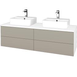 Dreja - Kúpeľňová skrinka MODULE SZZ4 140 - N01 Bílá lesk / M05 Béžová mat (303839)