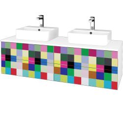 Dreja - Kúpeľňová skrinka MODULE SZZ4 140 - N01 Bílá lesk / IND Individual (303846)