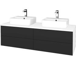 Dreja - Kúpeľňová skrinka MODULE SZZ4 140 - N01 Bílá lesk / N03 Graphite (303877)