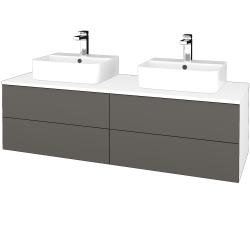 Dreja - Kúpeľňová skrinka MODULE SZZ4 140 - N01 Bílá lesk / N06 Lava (303884)