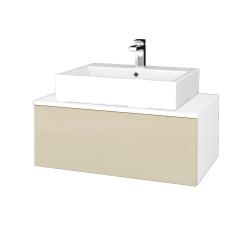 Dreja - Kúpeľňová skrinka MODULE SZZ1 80 - N01 Bílá lesk / D02 Bříza (311704)