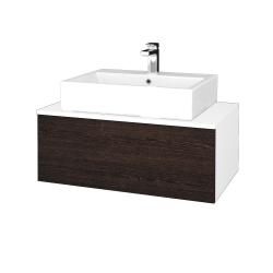 Dreja - Kúpeľňová skrinka MODULE SZZ1 80 - N01 Bílá lesk / D08 Wenge (311759)