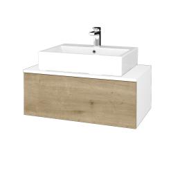 Dreja - Kúpeľňová skrinka MODULE SZZ1 80 - N01 Bílá lesk / D09 Arlington (311766)