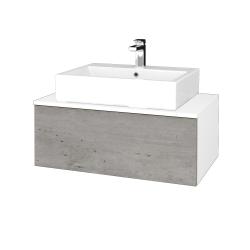Dreja - Kúpeľňová skrinka MODULE SZZ1 80 - N01 Bílá lesk / D01 Beton (311919)