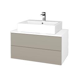 Dreja - Kúpeľňová skrinka MODULE SZZ2 80 - N01 Bílá lesk / L04 Béžová vysoký lesk (312329)