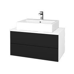 Dreja - Kúpeľňová skrinka MODULE SZZ2 80 - N01 Bílá lesk / N08 Cosmo (312367)