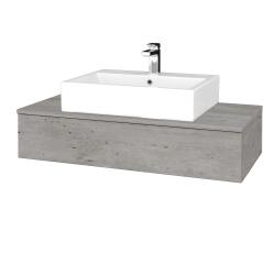 Dreja - Kúpeľňová skrinka MODULE SZZ 100 - D01 Beton / D01 Beton (312435)