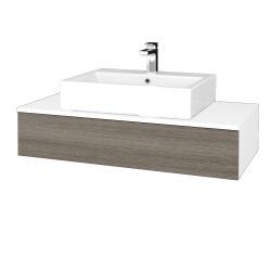 Dreja - Kúpeľňová skrinka MODULE SZZ 100 - N01 Bílá lesk / D03 Cafe (312657)