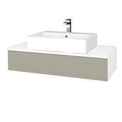 Dreja - Kúpeľňová skrinka MODULE SZZ 100 - N01 Bílá lesk / M05 Béžová mat (312763)