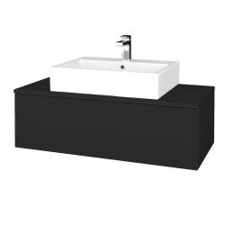 Dreja - Kúpeľňová skrinka MODULE SZZ1 100 - L03 Antracit vysoký lesk / L03 Antracit vysoký lesk (313050)