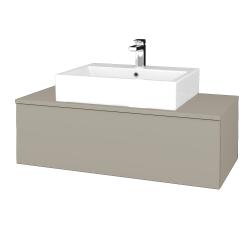 Dreja - Kúpeľňová skrinka MODULE SZZ1 100 - L04 Béžová vysoký lesk / L04 Béžová vysoký lesk (313067)