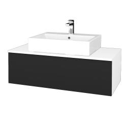 Dreja - Kúpeľňová skrinka MODULE SZZ1 100 - N01 Bílá lesk / L03 Antracit vysoký lesk (313258)