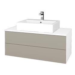 Dreja - Kúpeľňová skrinka MODULE SZZ2 100 - N01 Bílá lesk / L04 Béžová vysoký lesk (313739)
