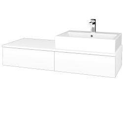 Dreja - Kúpeľňová skrinka MODULE SZZ2 120 - N01 Bílá lesk / M01 Bílá mat / Levé (314163)