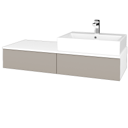 Dreja - Kúpeľňová skrinka MODULE SZZ2 120 - N01 Bílá lesk / N07 Stone / Levé (314231)